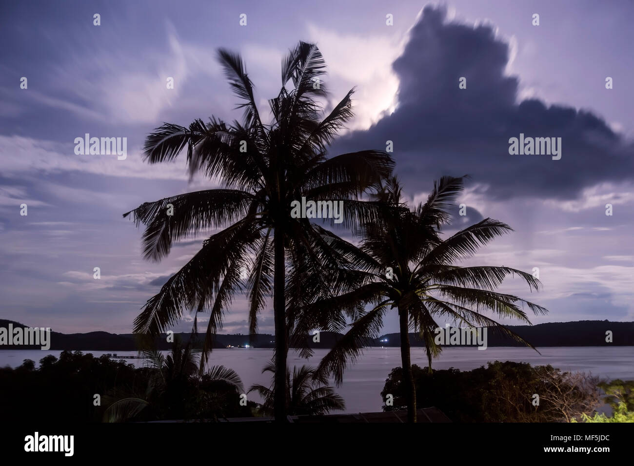 indonesia, Lombok, Indian ocean, coastline in the evening - Stock Image