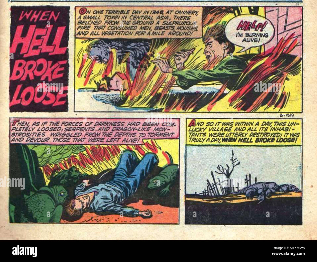 cool comic art panel with a horror theme taken from vintage comics