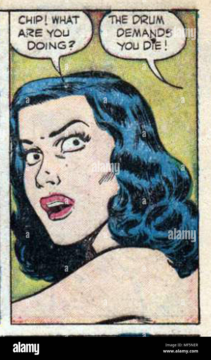 cool comic art panel with a horror theme taken from vintage