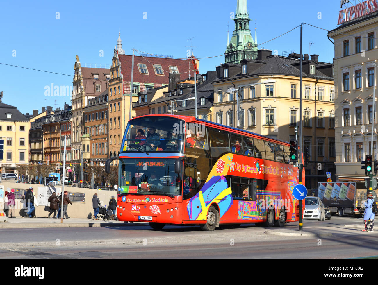 Hop On - Hop Off sightseeing bus - Stock Image