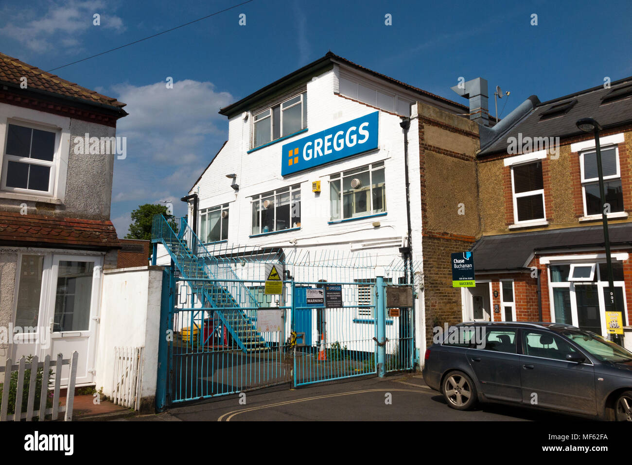 Greggs bakery in Twickenham which is closing due to its location and size. The site is likely to be redeveloped and become residential housing  Twickenham, UK. (96) - Stock Image
