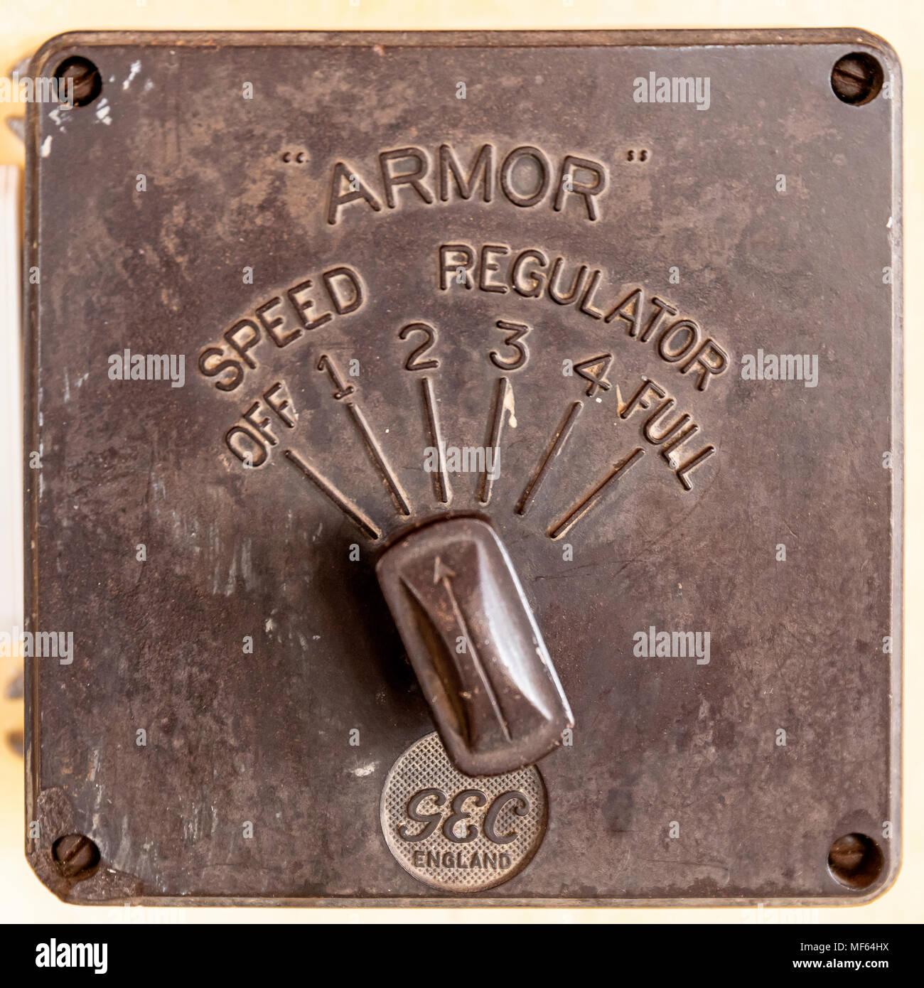 Armor Speed Regulator - Stock Image