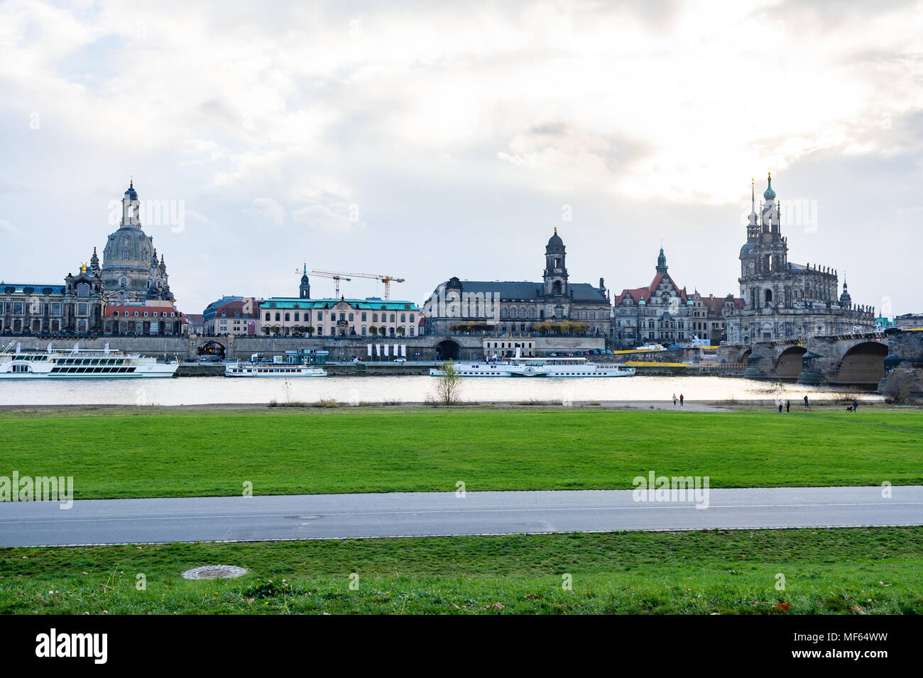 Dresden cityscape / skyline (germany) - Stock Image