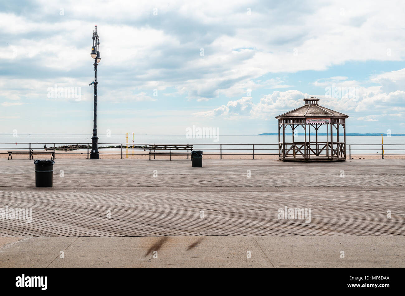 Coney Island Beach, New York City (NYC) - Stock Image