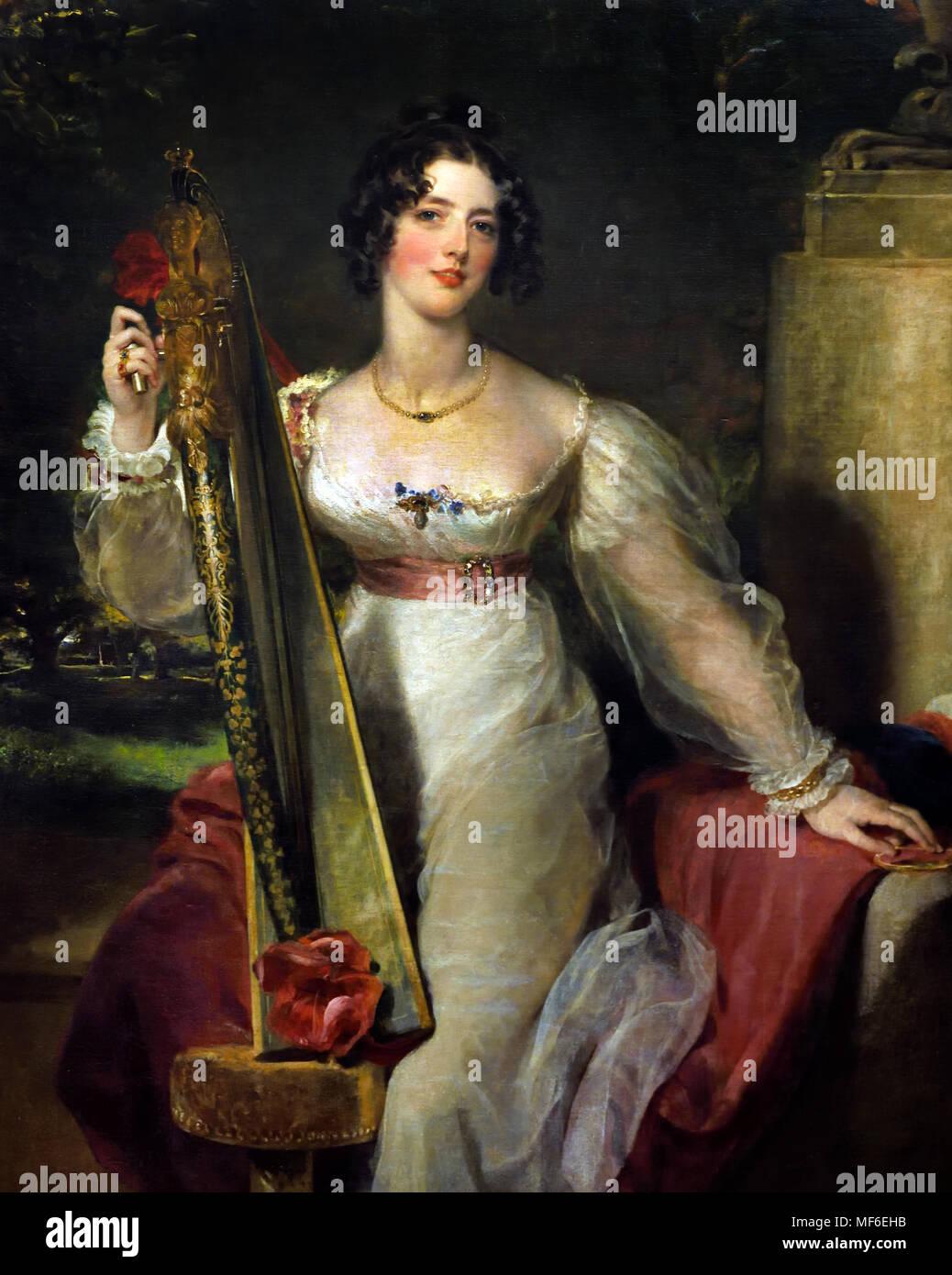 Portrait of Lady Elizabeth Conyngham 1824 Sir Thomas Lawrence 1769-1830. England. - Stock Image