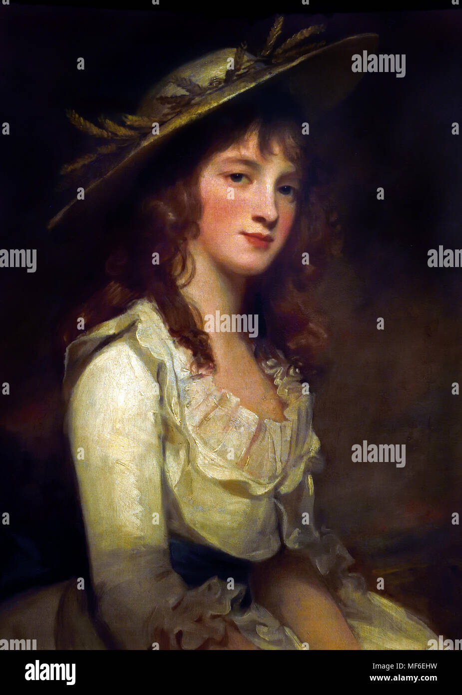 Portrait of MIss Constable 1787 George Romney 1734-1802, England. Stock Photo