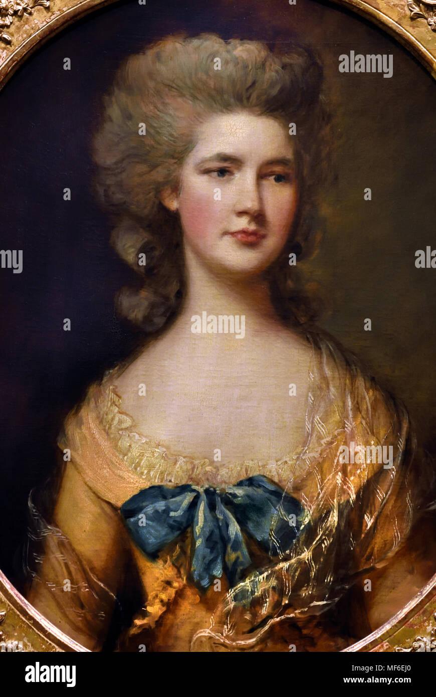 Miss Philadelphia Rowley 1783, Thomas Gainsborough 1727-1788 England, Stock Photo