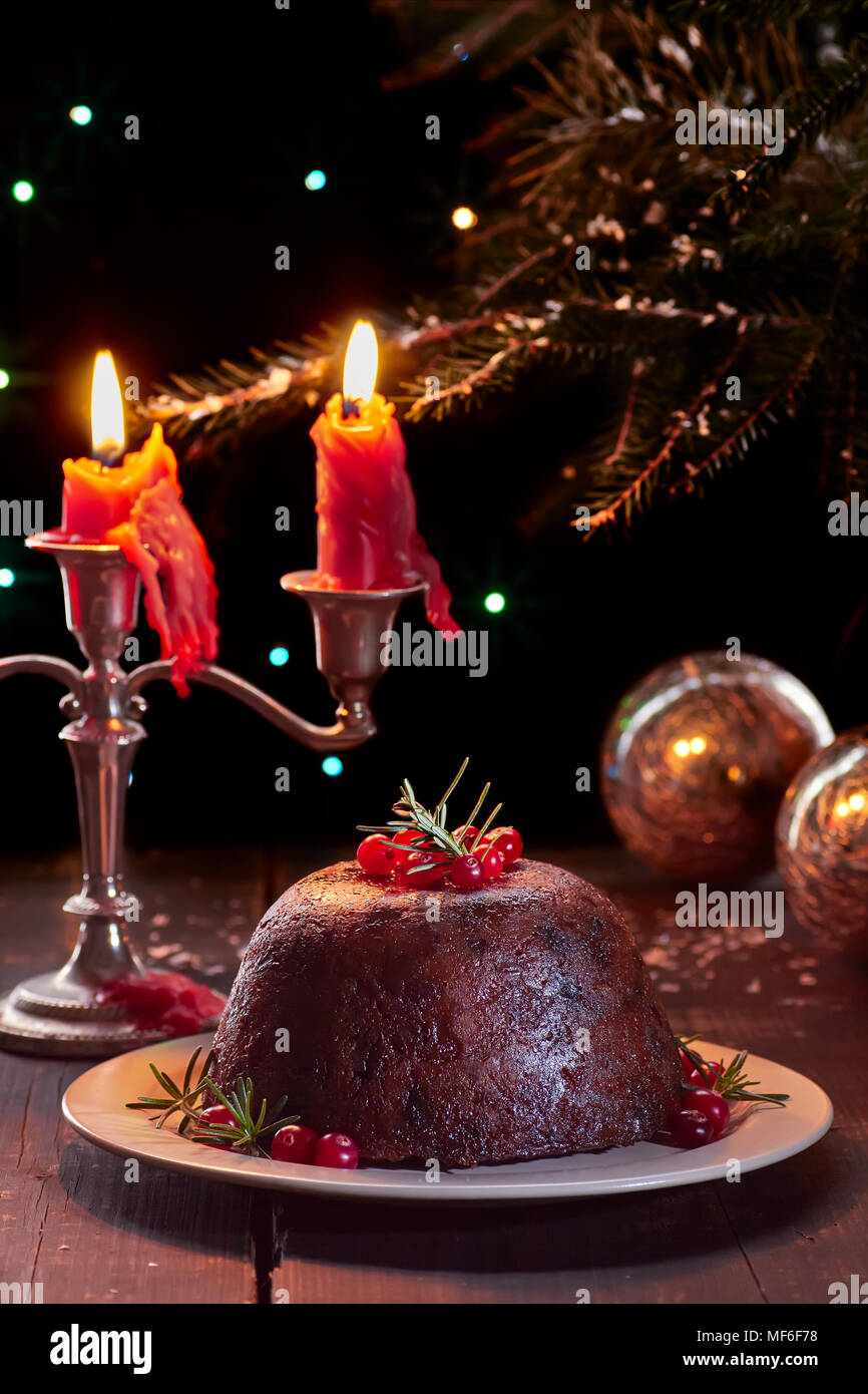 Christmas Pudding On Fire.Christmas Pudding Fire Stock Photos Christmas Pudding Fire