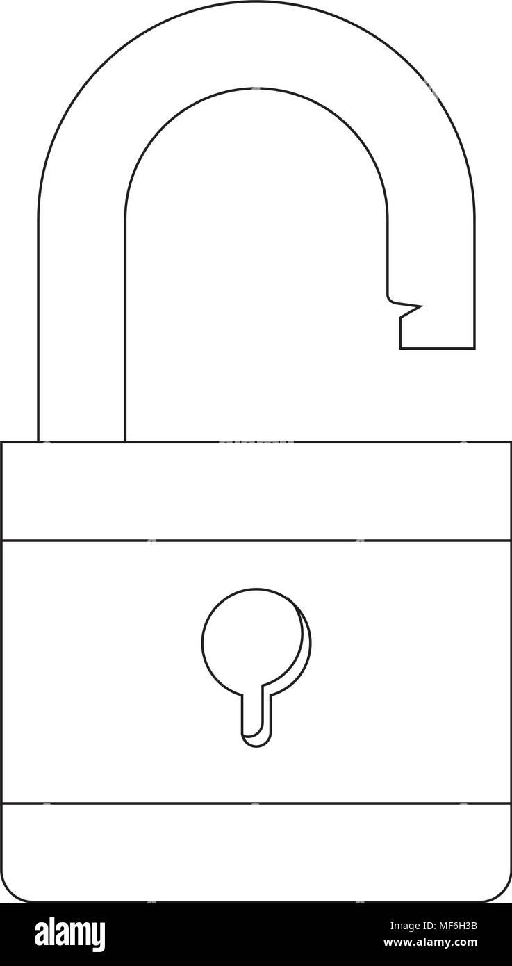 safe secure padlock icon vector illustration design - Stock Image