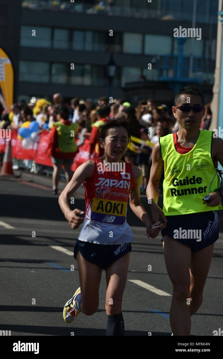 Virgin Money, London Marathon 2018 - Stock Image
