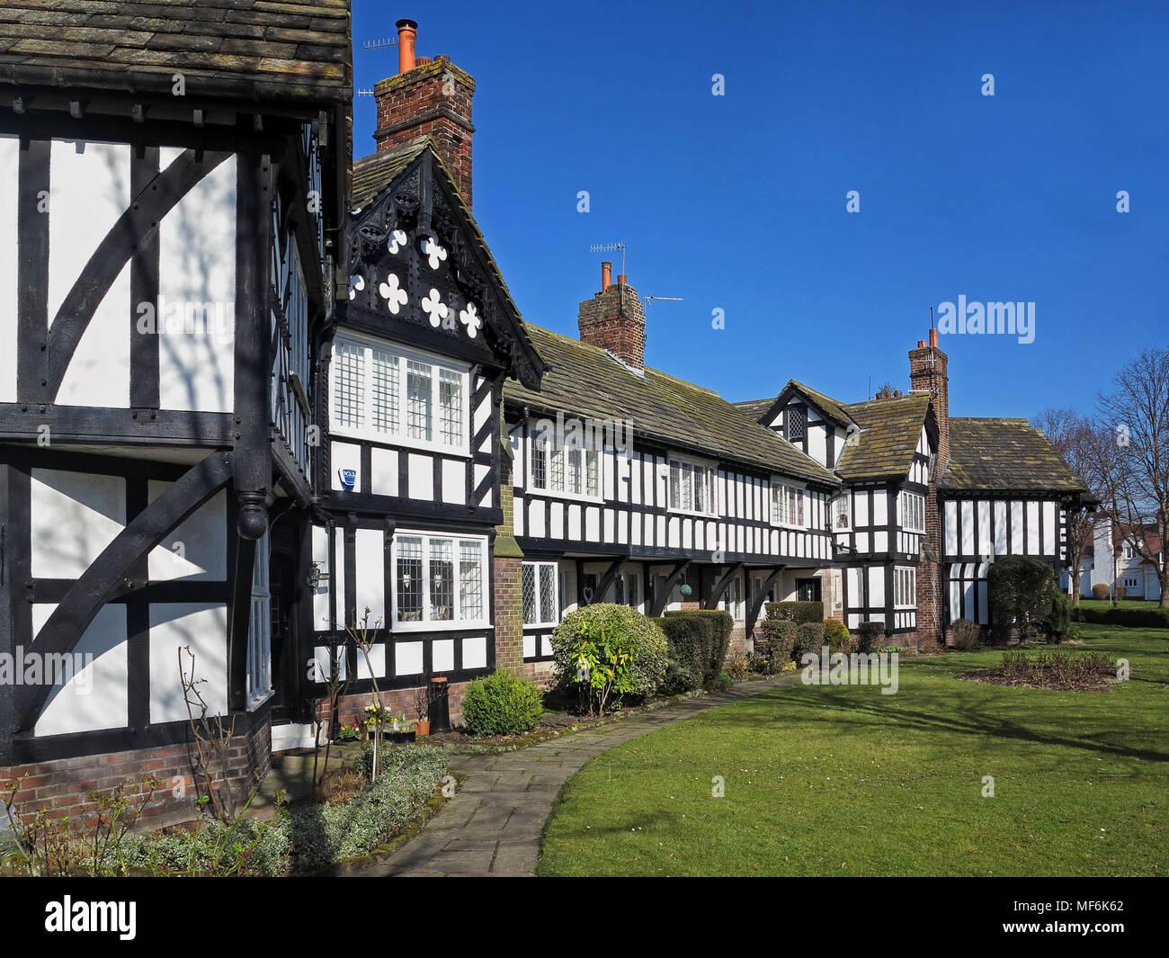 Tudor-styled property at Port Sunlight - Stock Image