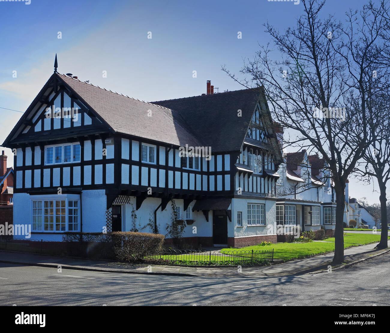 A Tudor-styled house at Port Sunlight Stock Photo