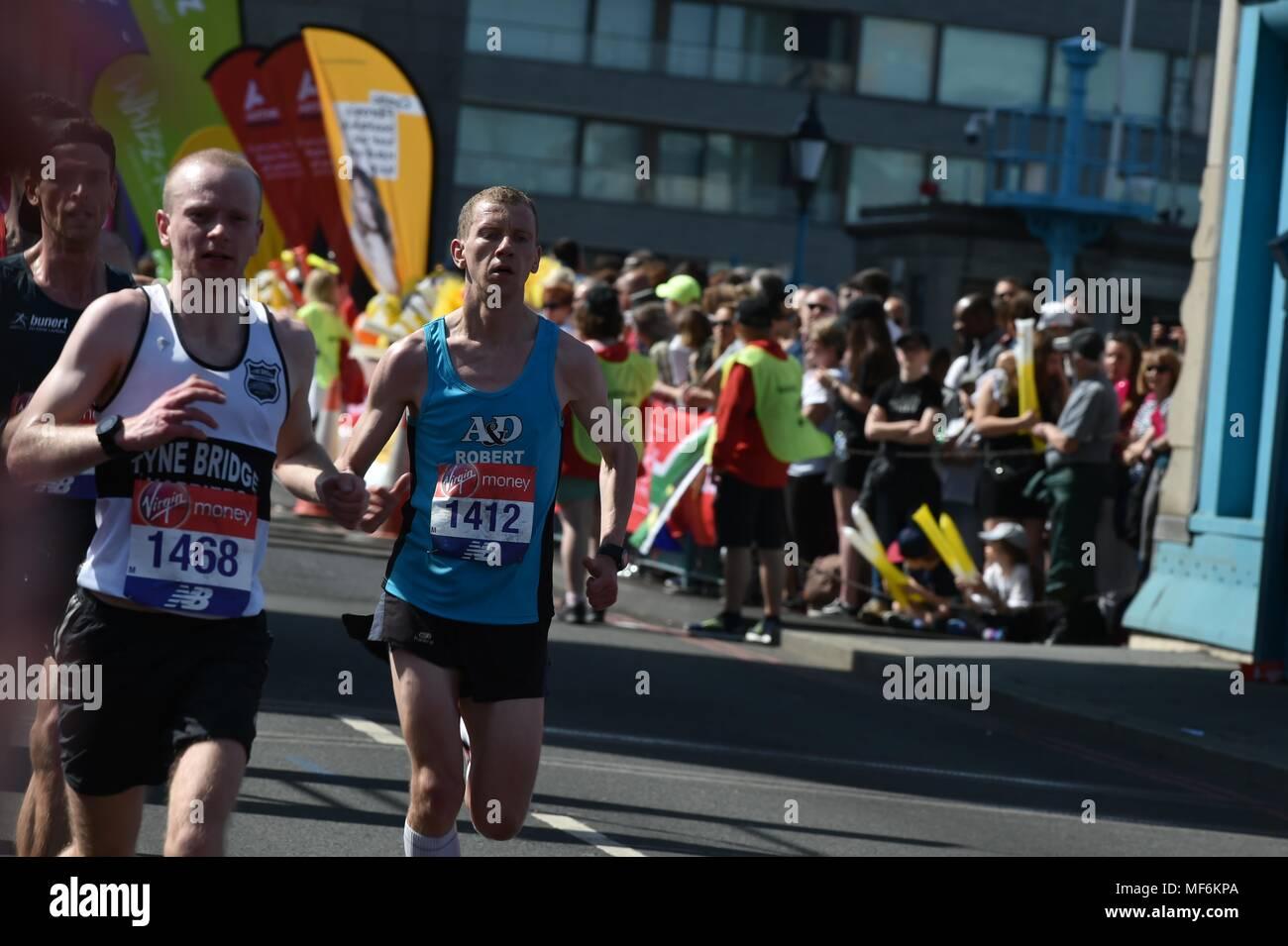 Virgin Money, London Marathon 2018 Stock Photo