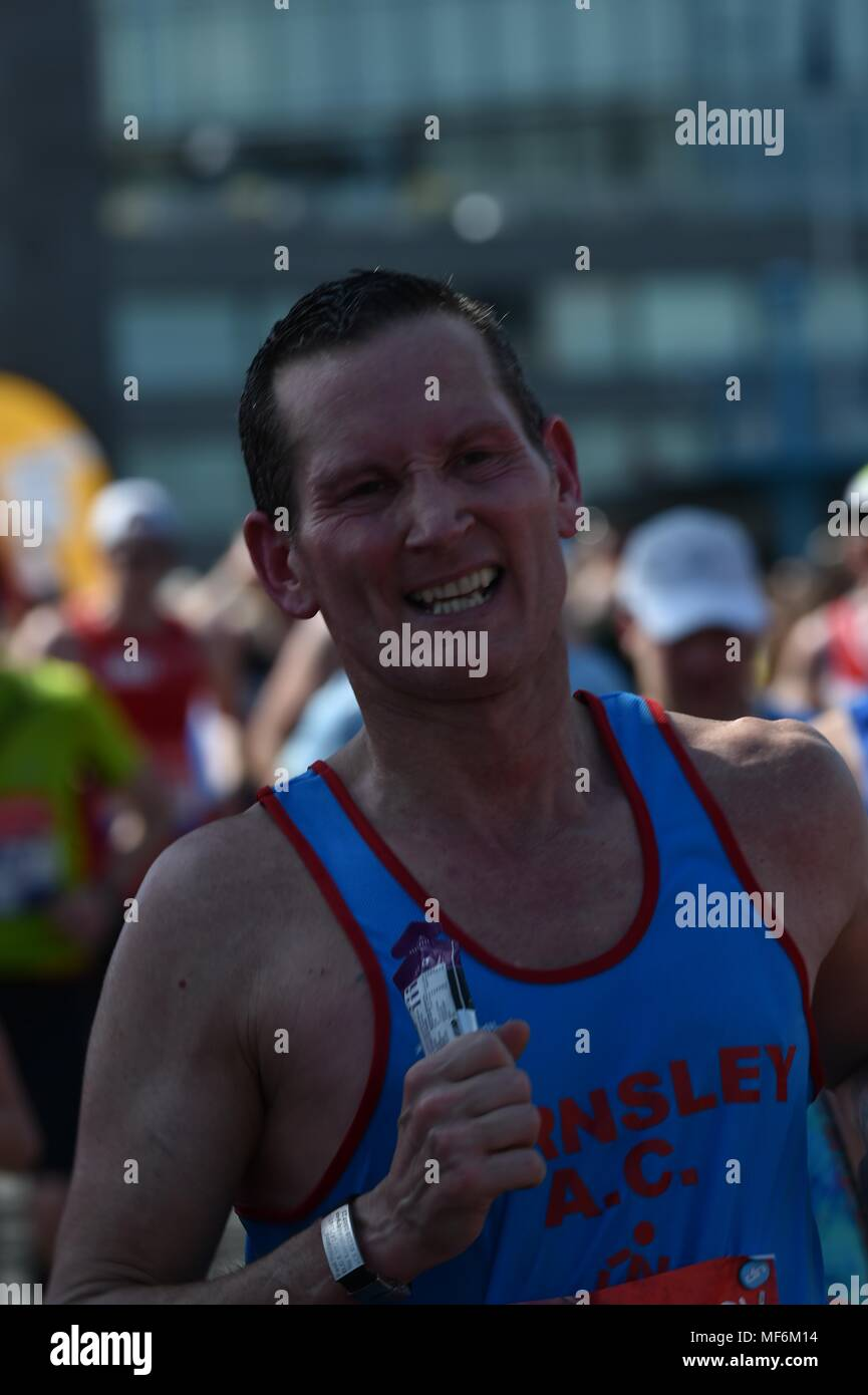 Virgin Money, London Marathon 2018 Stock Photo
