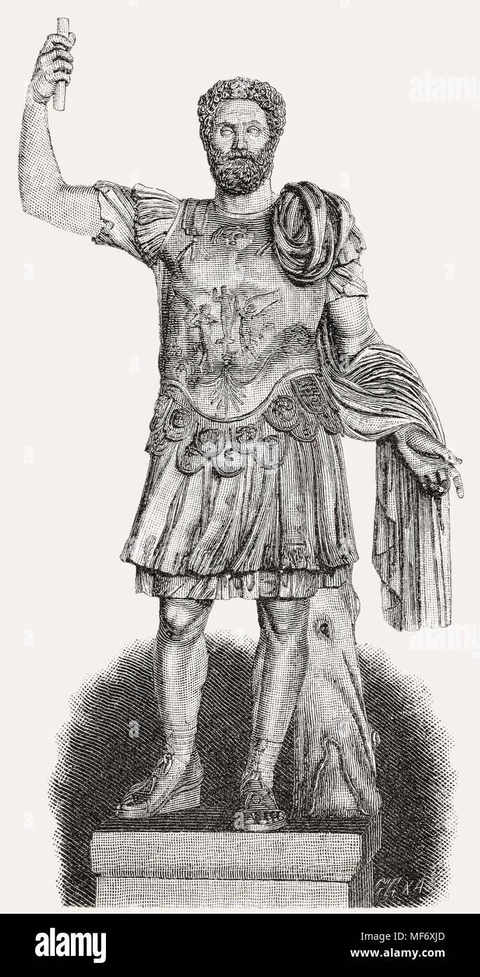 Clodius Albinus, c. 150 –197, proclaimed emperor by the legions in Britain and Hispania - Stock Image