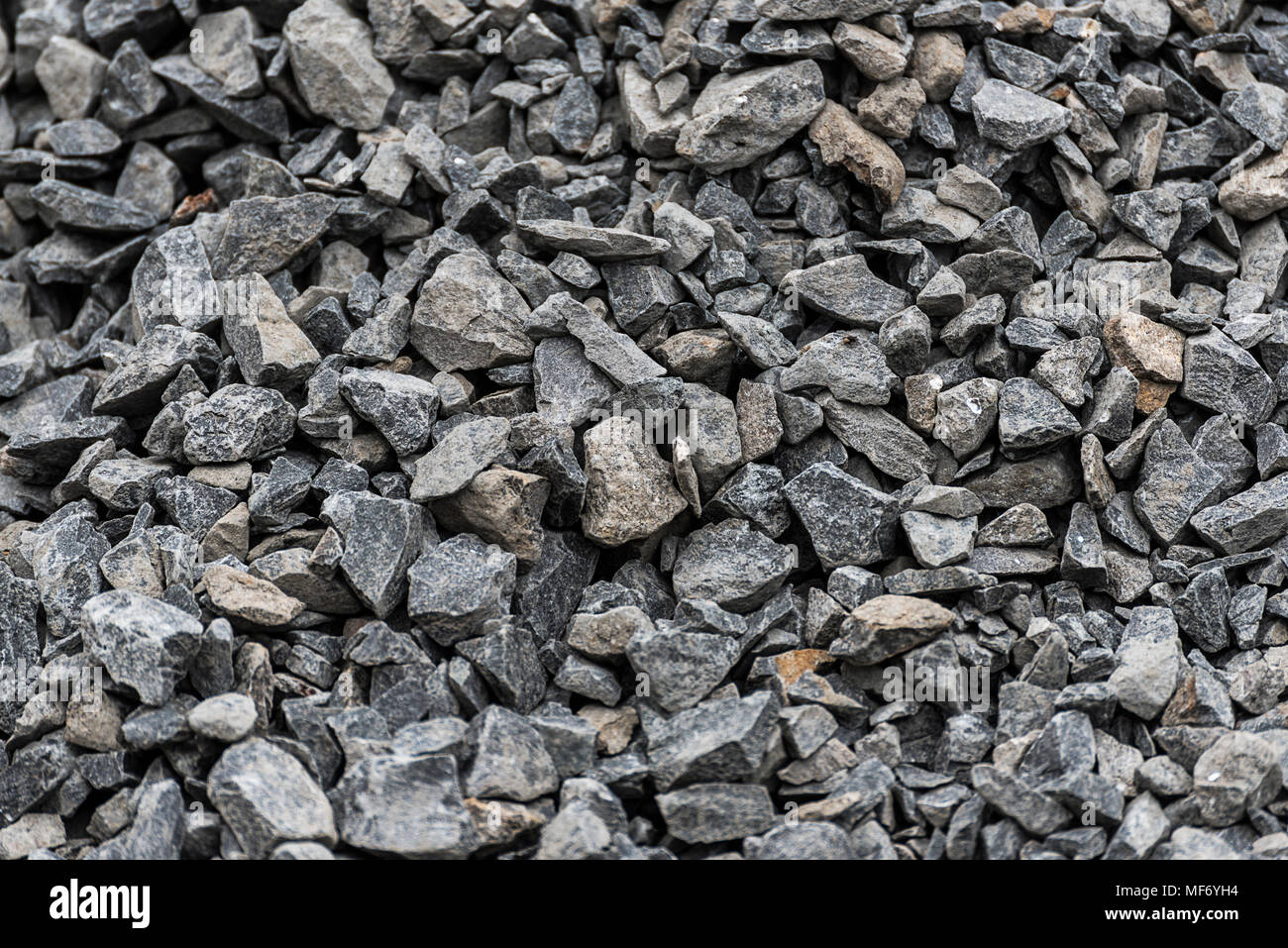 Stone, gravel at construction site in Addis Ababa, Ethiopia - Stock Image