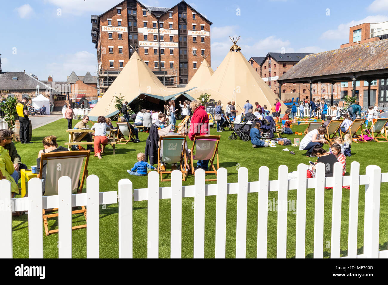 Springtime event in Gloucester Docks, Gloucester UK - Stock Image