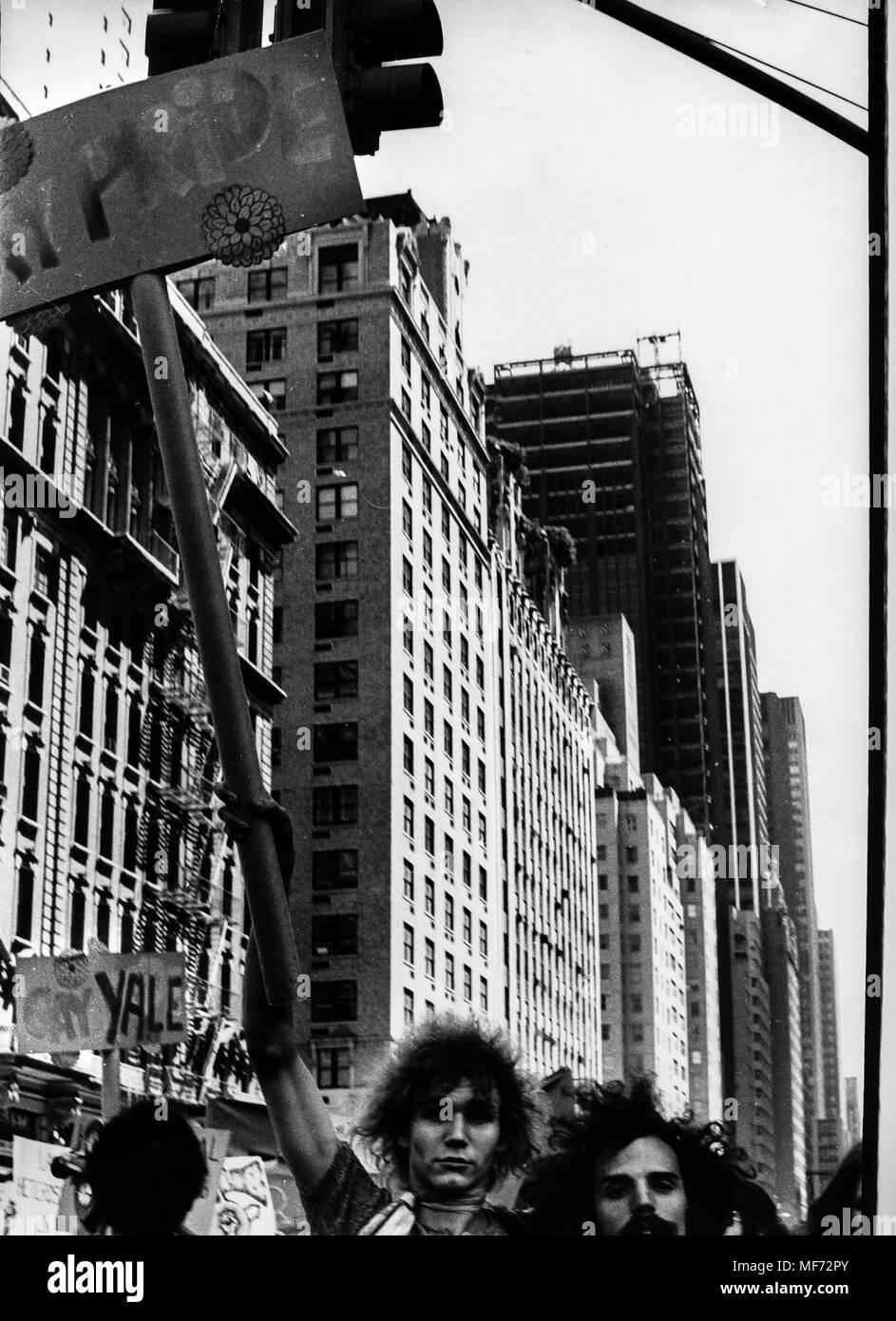 gay pride, new york, 70s - Stock Image