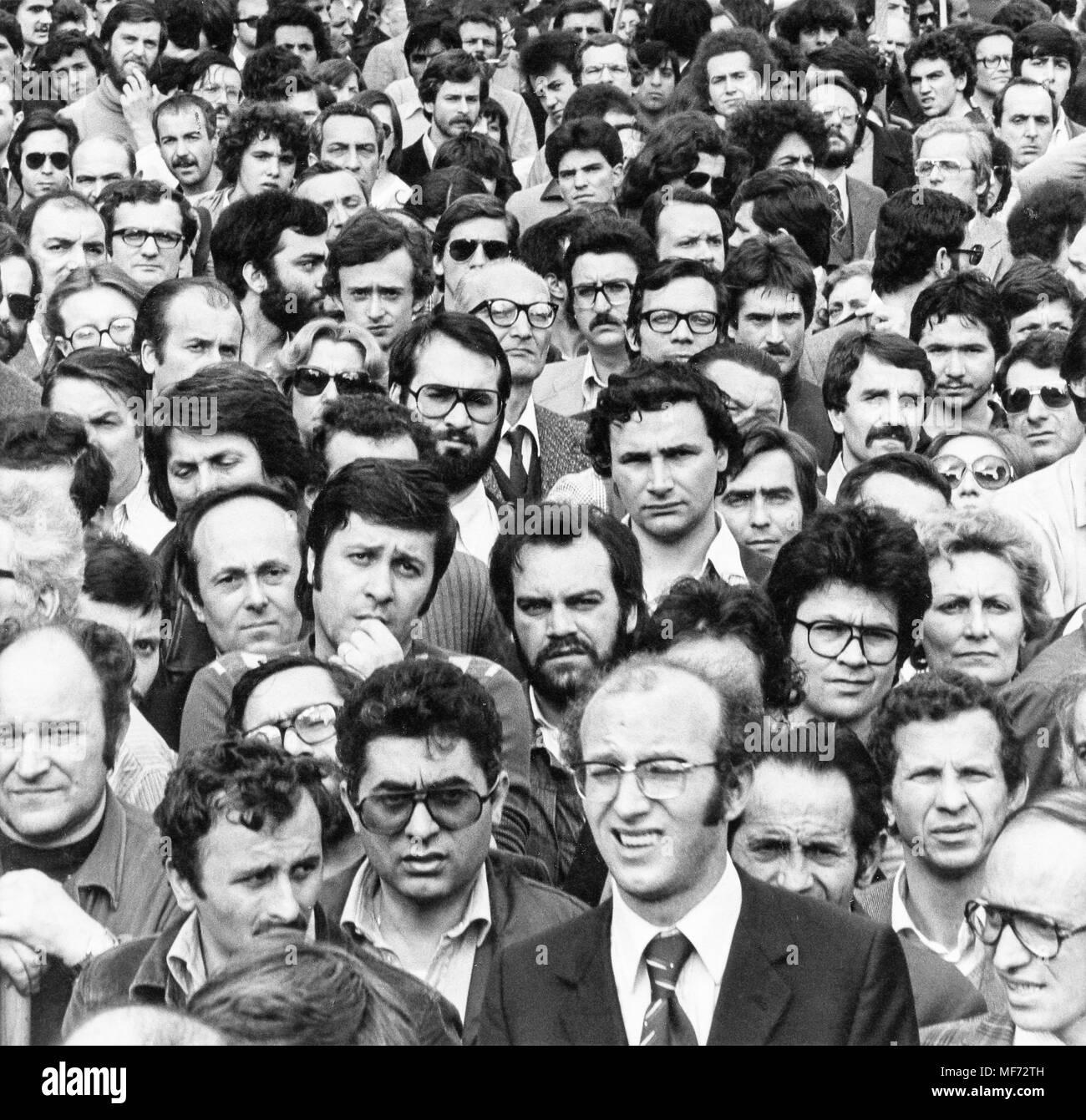 crowd, 70s - Stock Image
