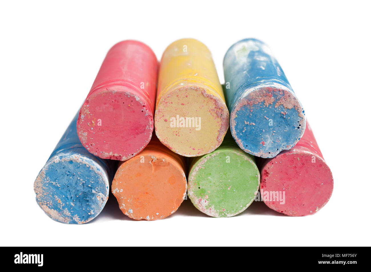 Colorful crayons for creativity isolated - Stock Image
