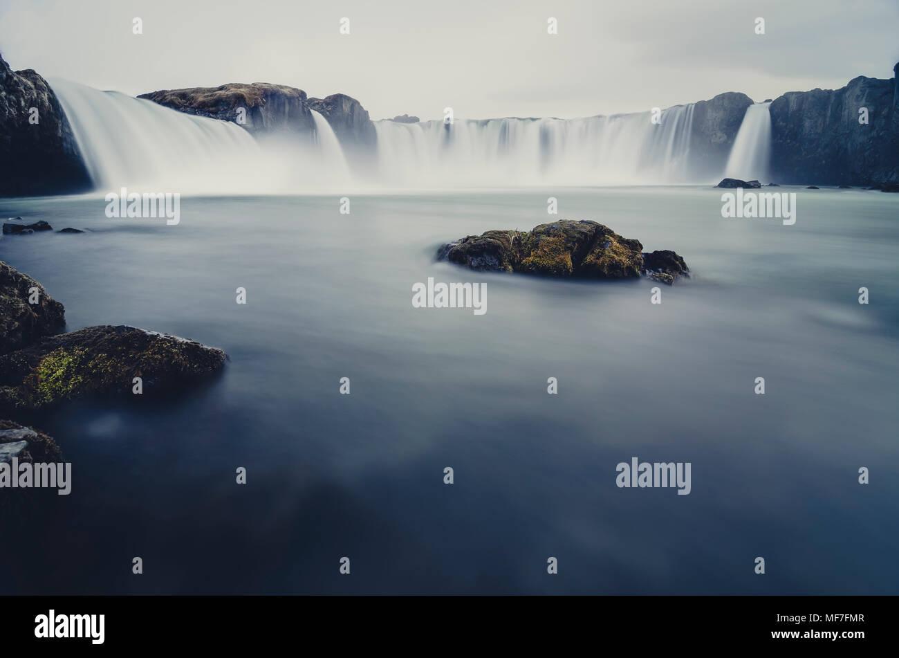 Iceland, Godafoss Waterfall - Stock Image