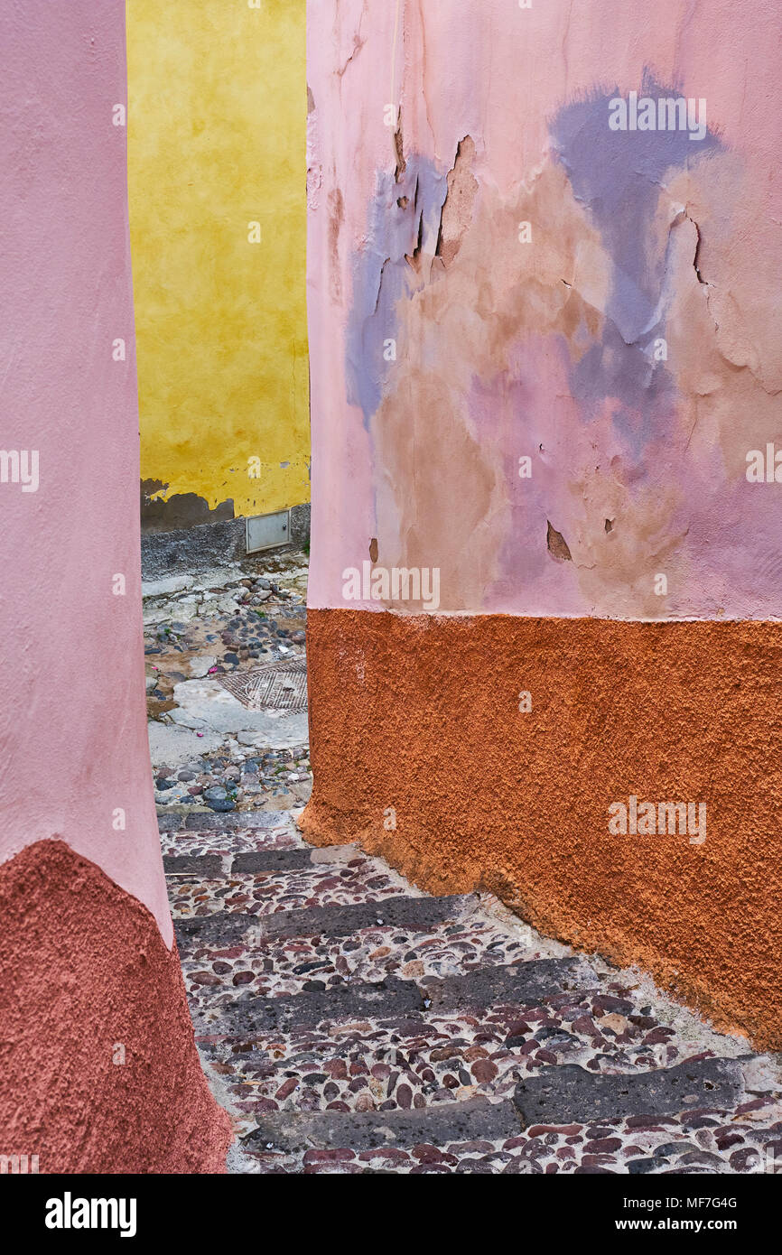 Italy, Sardinia, Bosa, alley - Stock Image