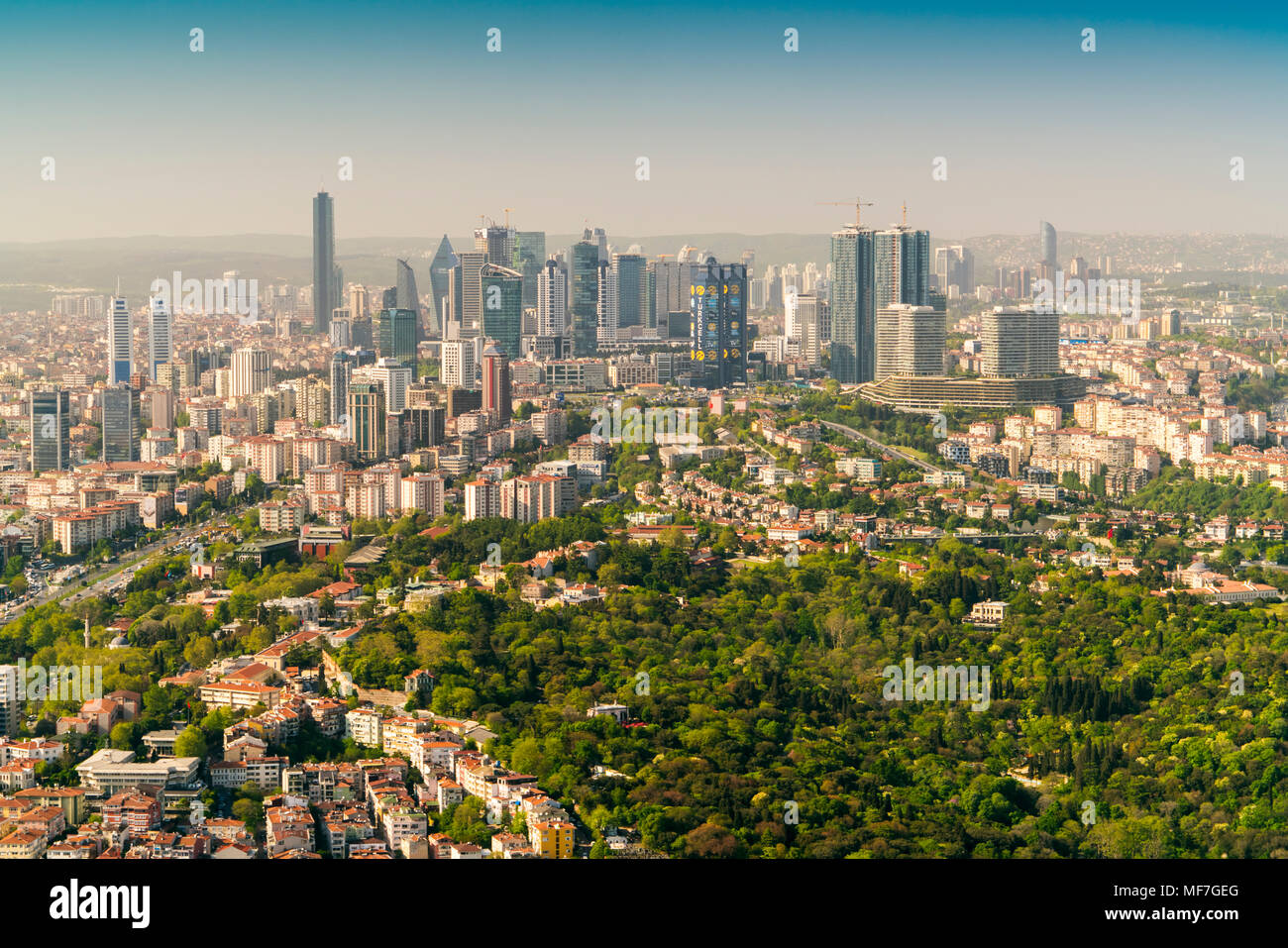 Turkey, Istanbul, financial district - Stock Image