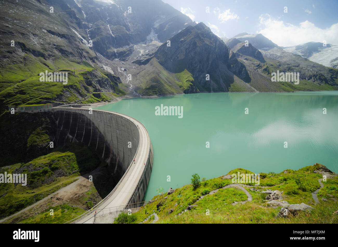 Austria, Kaprun, Mooserboden dam with Moosersperre wall Stock Photo