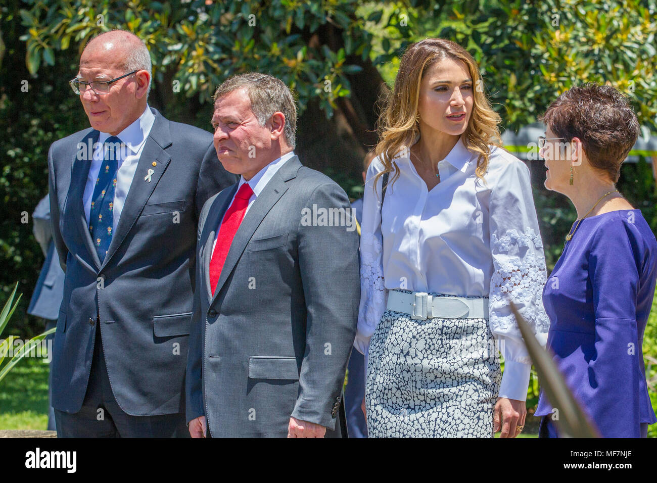 Their Majesties King Abdullah II bin Al-Hussein and Queen Rania Al-Abdullah of Jordan at Government House in Sydney as part of the Royal visit to Australia in November 2016. Stock Photo