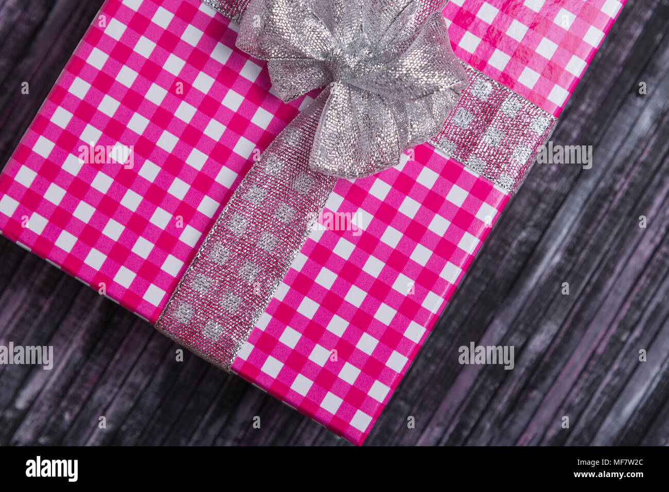 a gift for my wife and loved one a gift for the new year and christmas wooden background