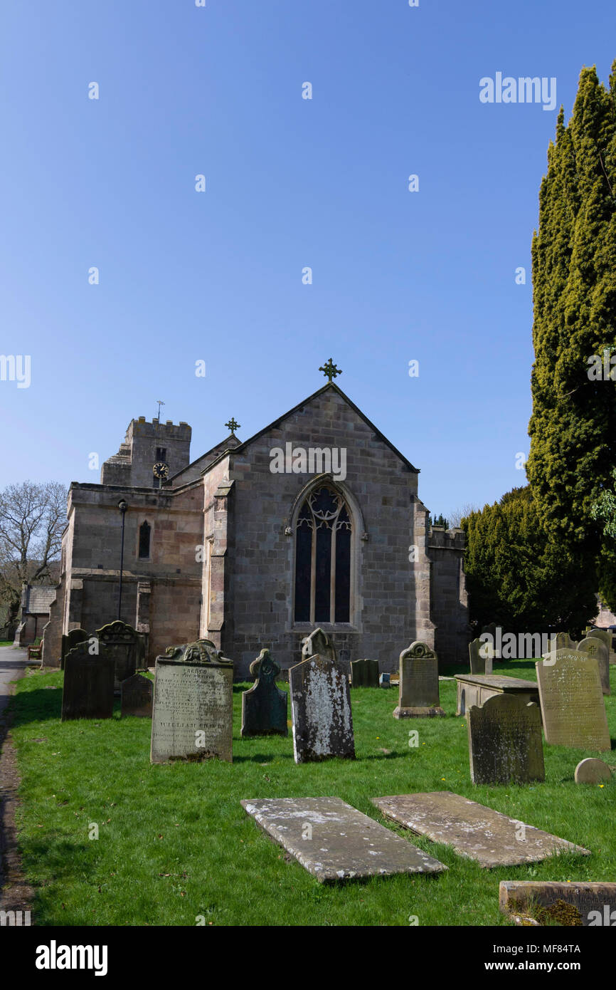 All Saints Church in the village of Ripley,North Yorkshire,England,UK. - Stock Image