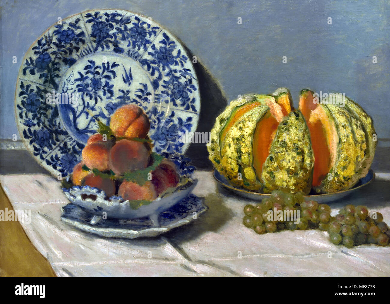 Still Life with Melon 1872 Claude Monet, 1840 – 1926, France, French - Stock Image
