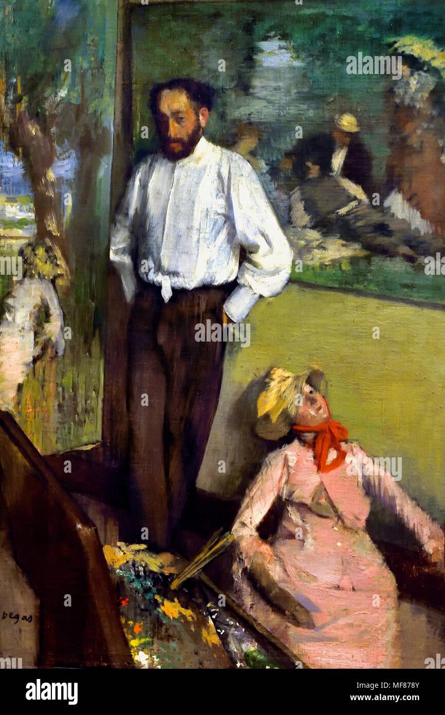 Portrait of Henri Michel Lévy  (1878) by  Edgar Degas 1834-1917 France French Stock Photo