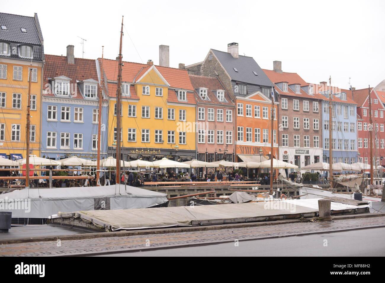 Nyhavn Denmark - Stock Image