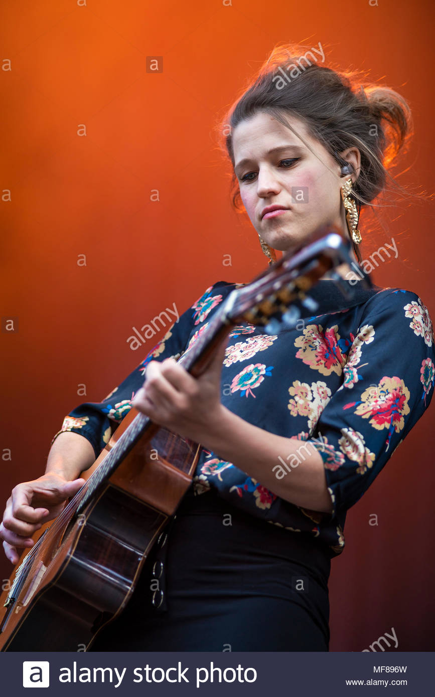 Selah Sue performing live at the first edition of MUSILAC Mont-Blanc music festival in Chamonix (France) - 21 April 2018 Stock Photo