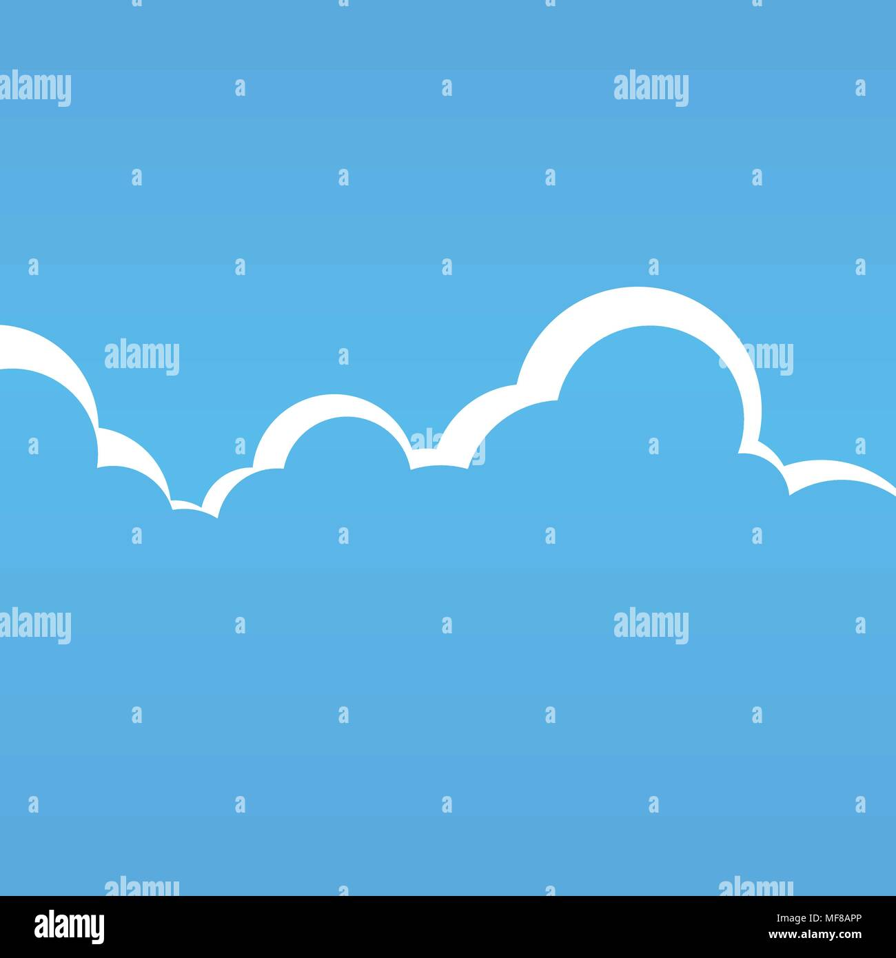 Vector Cartoon Cloudspace Illustration - Stock Image