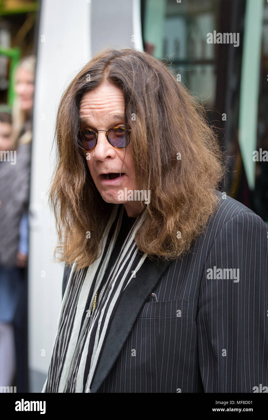 Ozzy Osbourne at a ceremony in Birmingham to name a tram after him - Stock Image