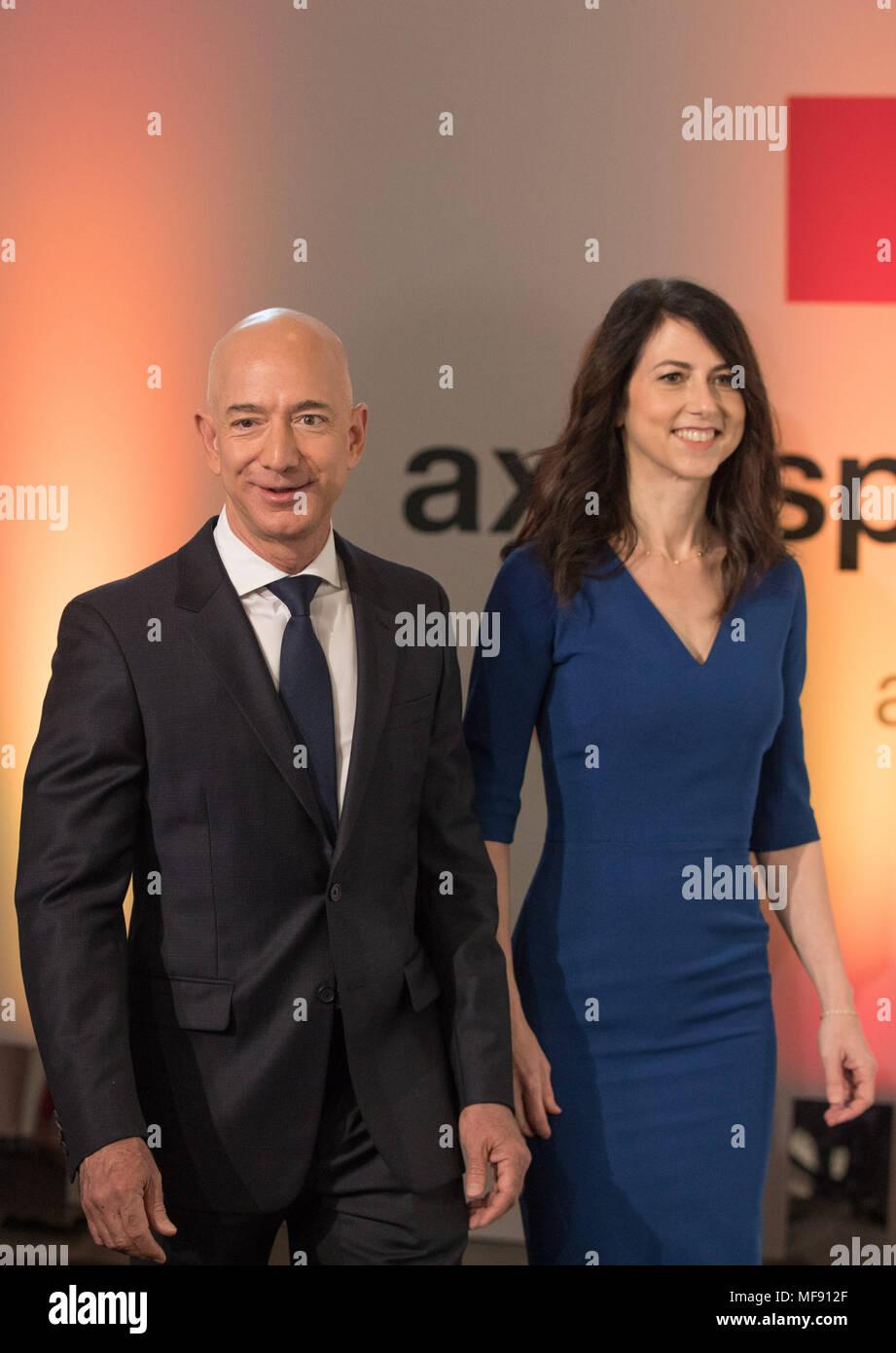 24 April 2018 Germany Berlin Head Of Amazon Jeff Bezos And His