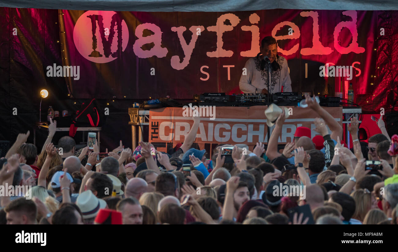 Craig Charles Performing on the Mayfield Studios Stage at at Victorious Festival 2017 Stock Photo
