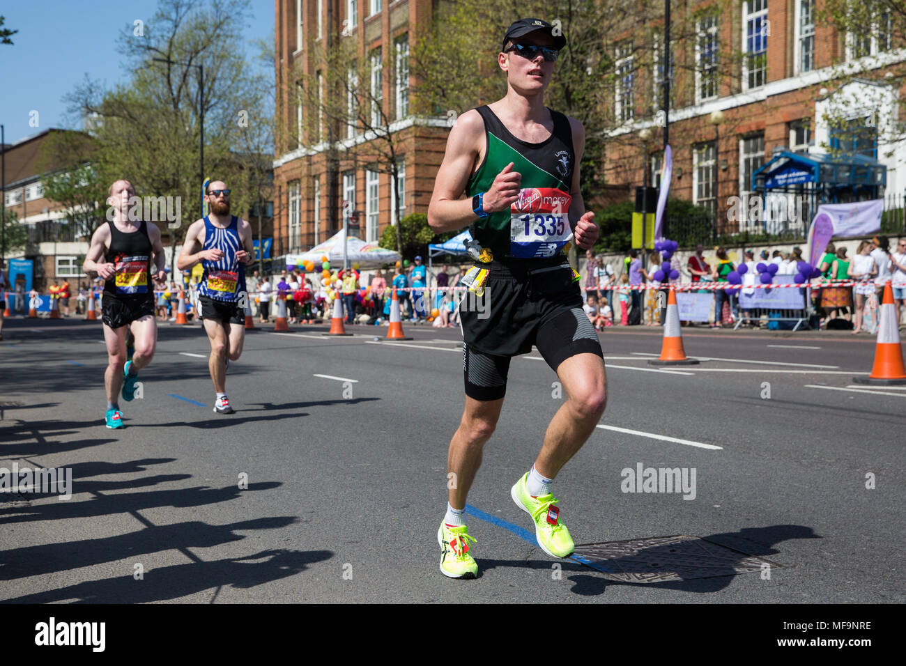 London, UK. 22nd April, 2018. Robert Windard of Lincoln and District Runners competes in the 2018 Virgin Money London Marathon. - Stock Image