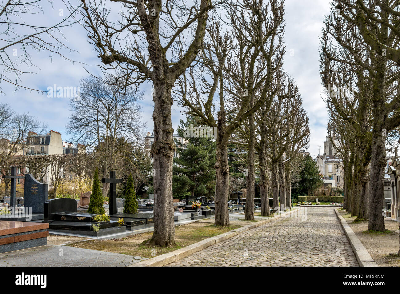 Père Lachaise cemetery, the largest and most visited cemetery  in Paris Stock Photo