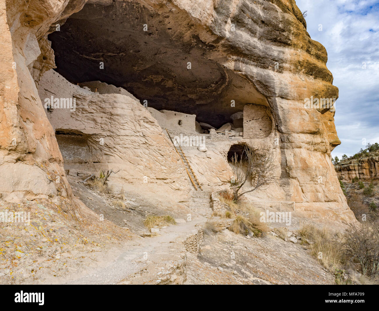 Caves And Cliffs At Gila Cliff Dwellings National Monument