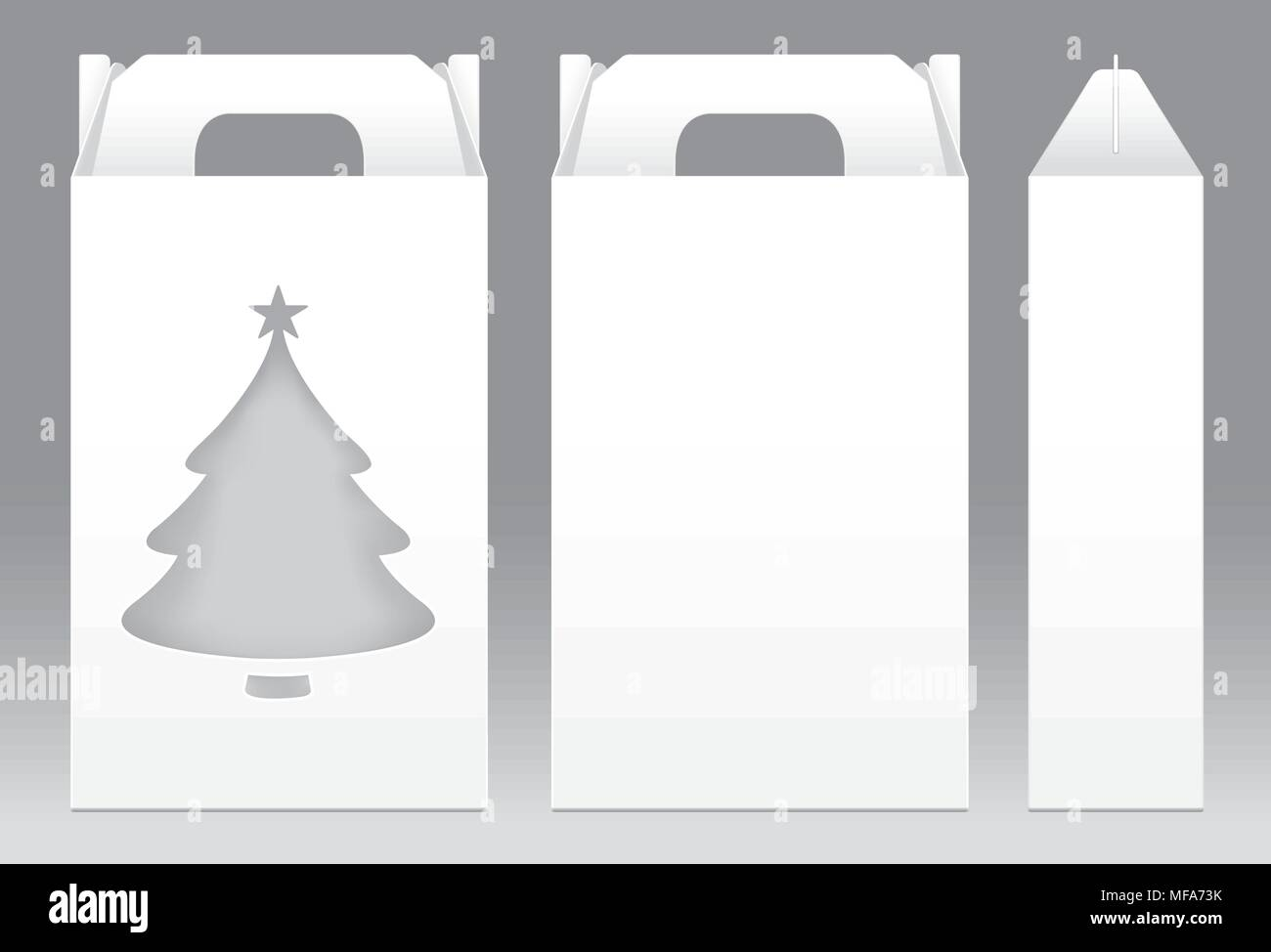 Tall box white window christmas tree shape cut out packaging tall box white window christmas tree shape cut out packaging template blank empty box white template for design product package gift box white box p maxwellsz