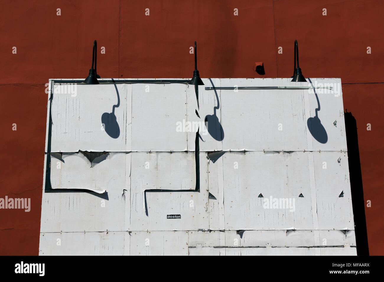 Blank empty billboard Boston Massachusetts USA - Stock Image