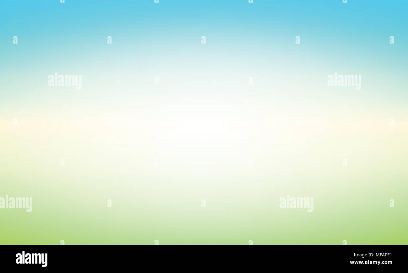 Abstract Background with Glow and Shine - Vector Illustration with Blured Landscape of Clear Day. - Stock Vector