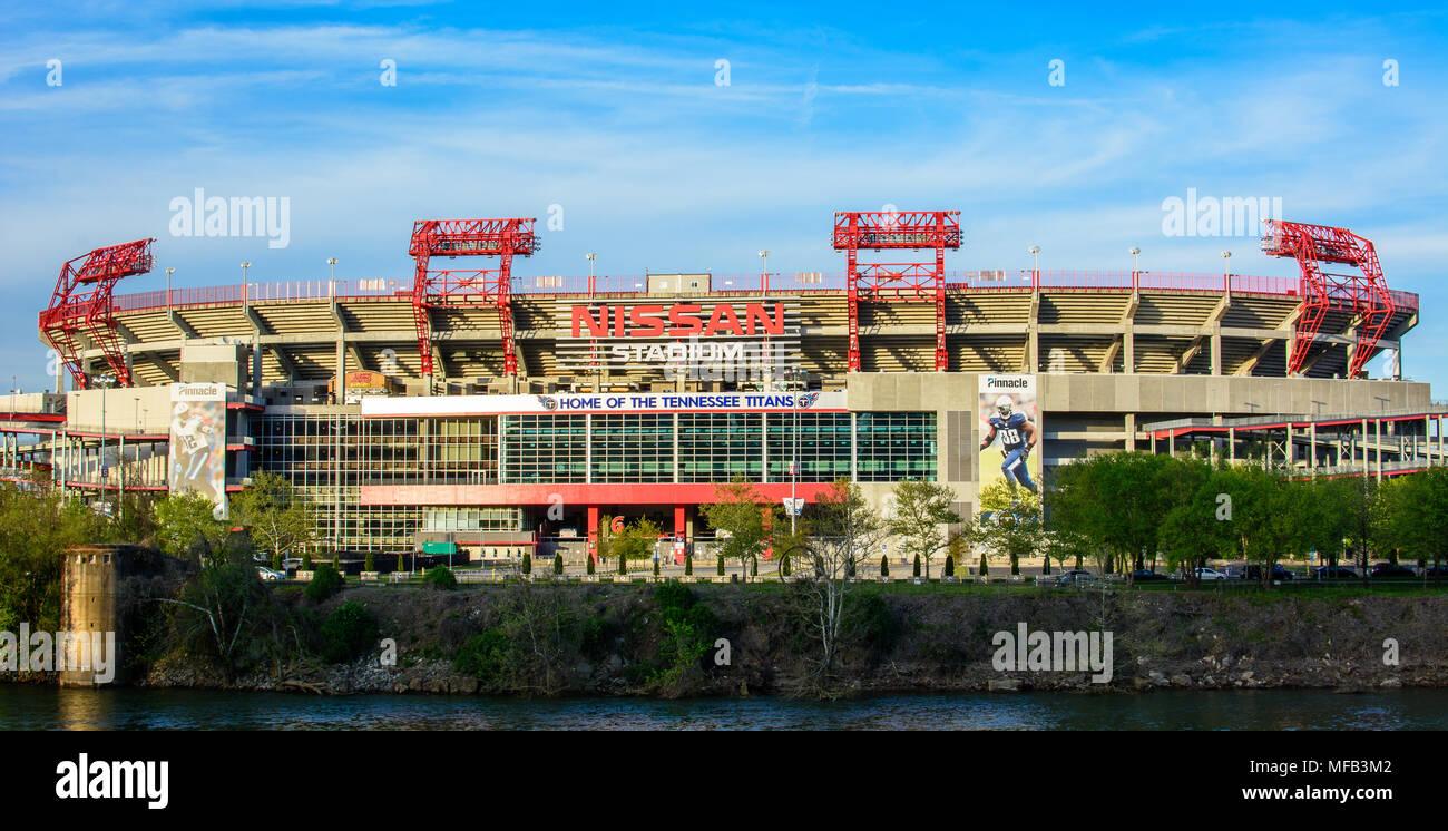 Great Nissan Stadium In Downtown Nashville, Tennessee