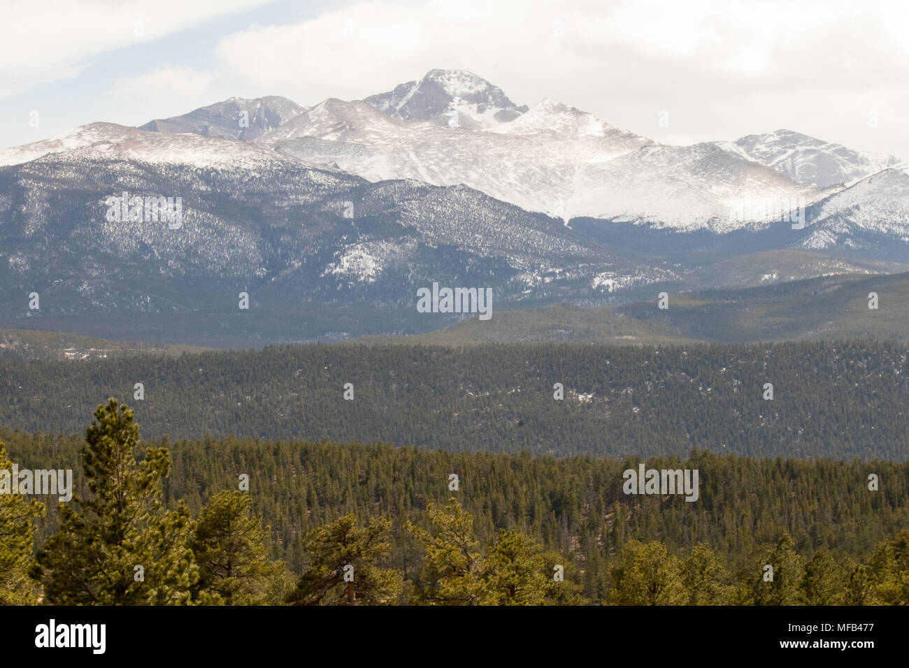 Scenic view of rockies - Stock Image