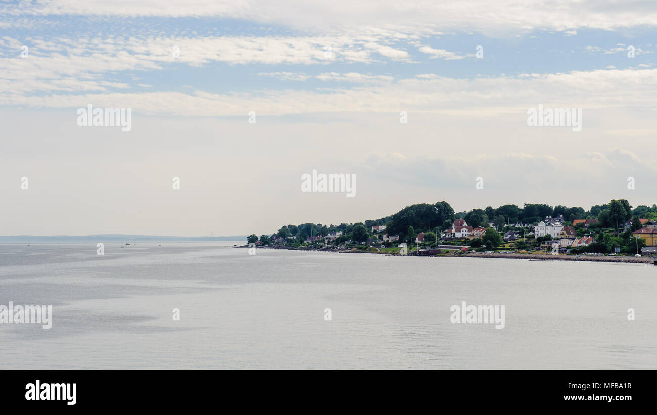 Helsingor, a city and the municipal seat of Helsingor Municipality on the northeast coast of the island of Zealand in eastern Denmark. - Stock Image