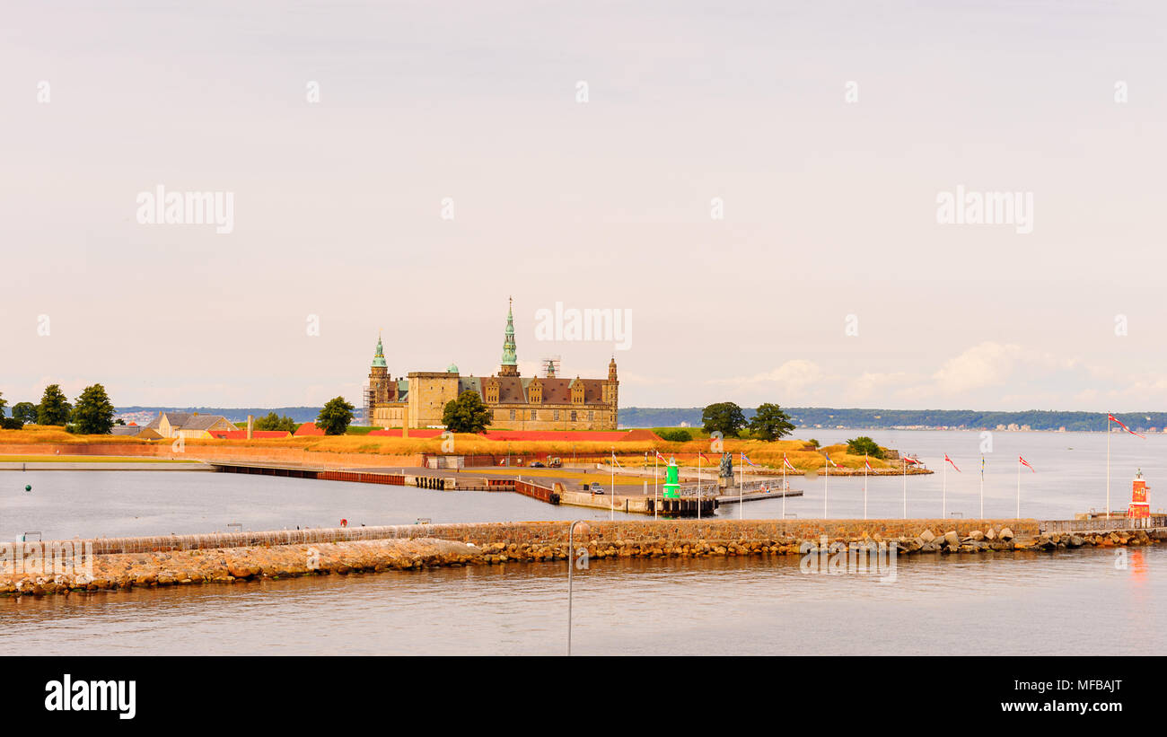 Kronborg is a castle and Stronghold in the town of Helsingor, Denmark. One of the most important Renaissance castles in Northern Europe. UNESCOWorld H - Stock Image