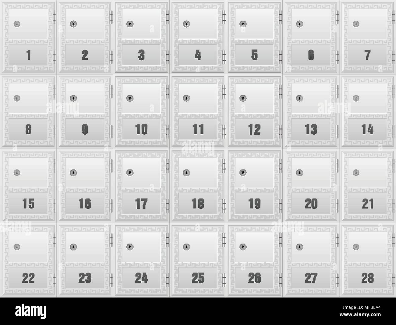 Mailboxes for apartment building background. Stock Vector